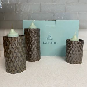 PartyLite Candle Holder Trio